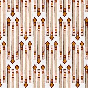 Canvas-textured Triple Arrow