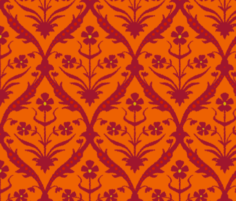 Tamra trellis ikat fabric by scrummy on Spoonflower - custom fabric