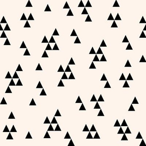 simple triangle // cream and black kids baby nursery simple triangles