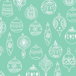 ornaments // mint christmas ornaments holiday hand-drawn illustration christmas ornamanent