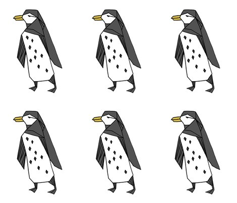 Penguin plush plushie cut and sew black and white kids for Black and white childrens fabric
