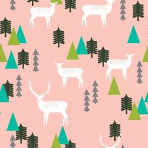 Christmas Reindeer - Pink by Andrea Lauren