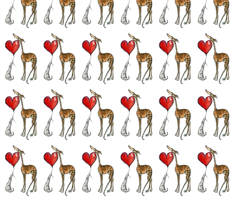 With a little love- White fabric by silky_sox on Spoonflower - custom fabric