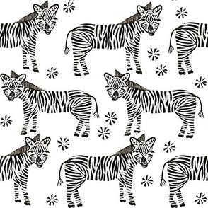 Safari Zebra - Black and White by Andrea Lauren