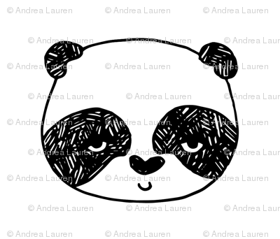Panda - One per FQ - Pillow, plush, cut and sew by Andrea Lauren