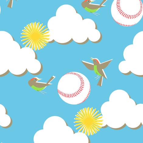 Fly ball! fabric by moirarae on Spoonflower - custom fabric