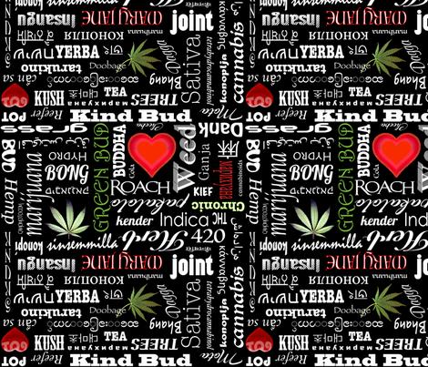 Marijuana Names fabric by camomoto on Spoonflower - custom fabric
