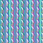 Puffins on Stripe