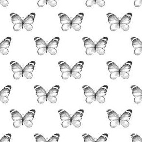 Butterfly pattern. Watercolor