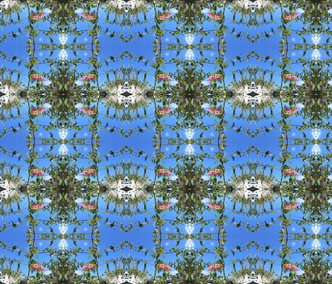 Leafy Sky Ladders (Ref. 4098) fabric by rhondadesigns on Spoonflower - custom fabric