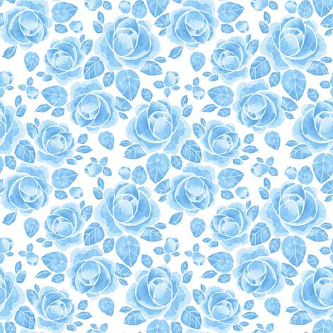 Blue flowers fabric by gribanessa on Spoonflower - custom fabric