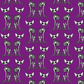 SphynxieBonez Art Nouveau Back to Back in Purple