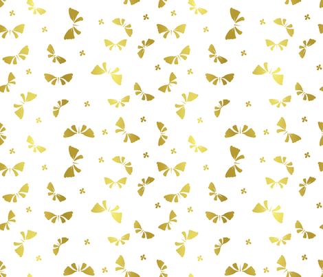 La danse du Papillon d'or fabric by un_temps_de_coton on Spoonflower - custom fabric