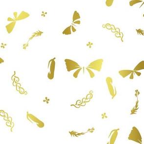 Doux papillons d'or