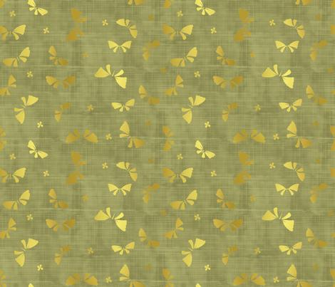 La danse du Papillon d'or jungle fabric by un_temps_de_coton on Spoonflower - custom fabric
