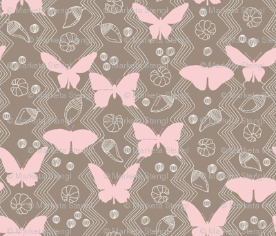Butterfly Life Cycle Pink and Brown