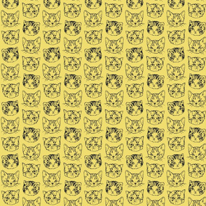 Cute Cats | Mustard Yellow