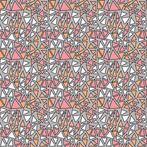 Dynamic Triangles Pink, Peach, Grey