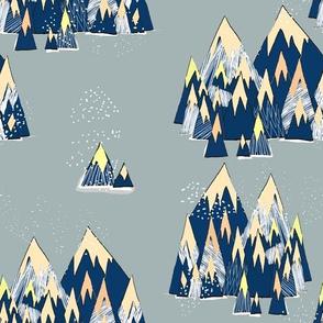 Magic Mountains Grey