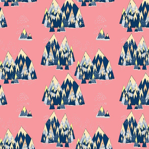 Magic Mountains Pink