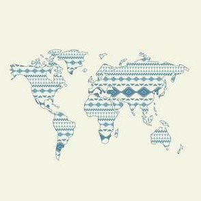 Tribal World Map Pattern