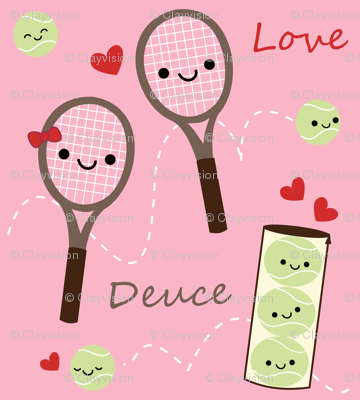 Happy Tennis - Pink