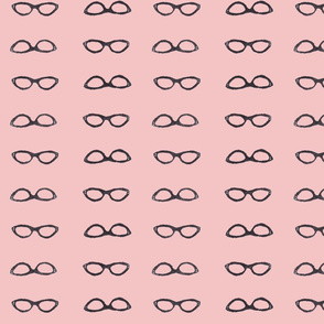 retro glasses pink