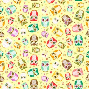 Colorful Mixed Owls (Small)