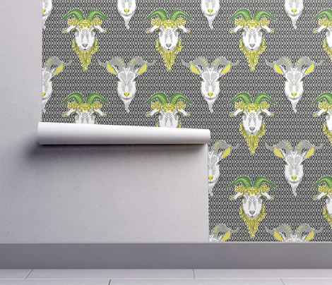 goats on the wall