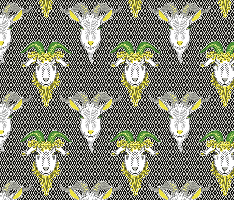 goats on the wall fabric by designed_by_debby on Spoonflower - custom fabric