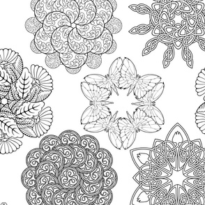mandala style designs