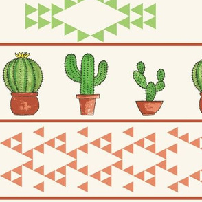Striped Cacti in Green and Orange