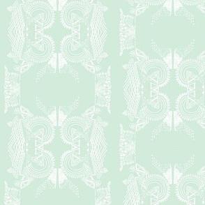 Damask doodle mint