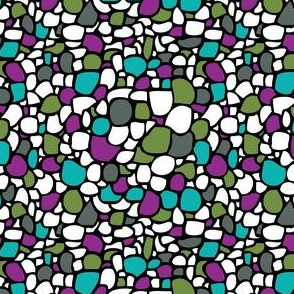 Colored Pebbles in Cyanide