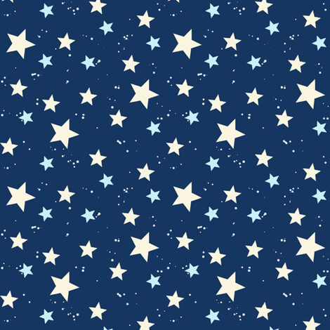 Space Stars fabric by hazel_fisher_creations on Spoonflower - custom fabric