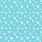 Snowflakes white on blue