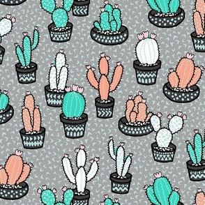 Confetti Cactus - grey