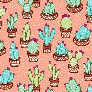 Confetti Cactus - coral