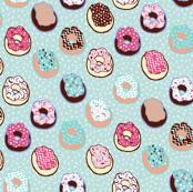 Confetti Donuts - mint