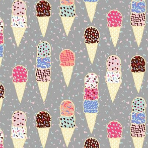 Confetti Ice Cream - grey