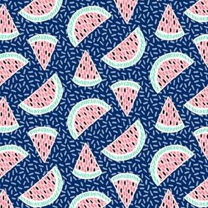 Confetti Melons - navy