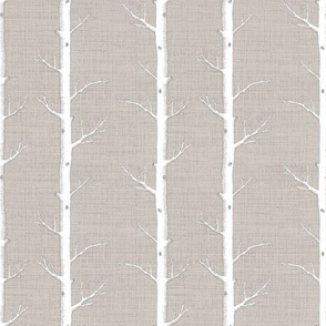 Birch Forest, Natural Linen