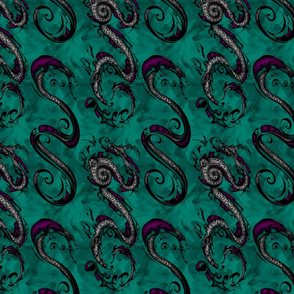 NIB Snakes & Dragons (Smokey Background  2) Larger Scale