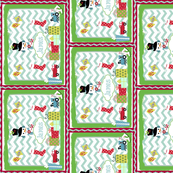 Frosty Holiday Quilt SM VERTICAL-personalzied Blue