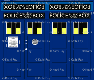 Police Call Box Pillow Case