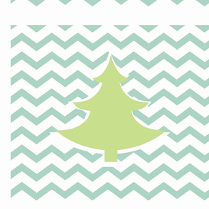 Chevron green tree LG