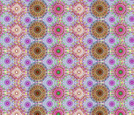 kaleidoscope fabric by linsart on Spoonflower - custom fabric
