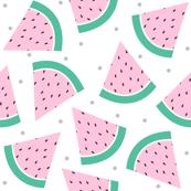 Pastel Watermelon with Grey confetti