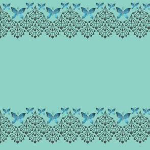 Blue Lace Edge Flutterby