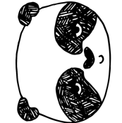 panda // black and white plush plushie black and white kids cut and sew panda